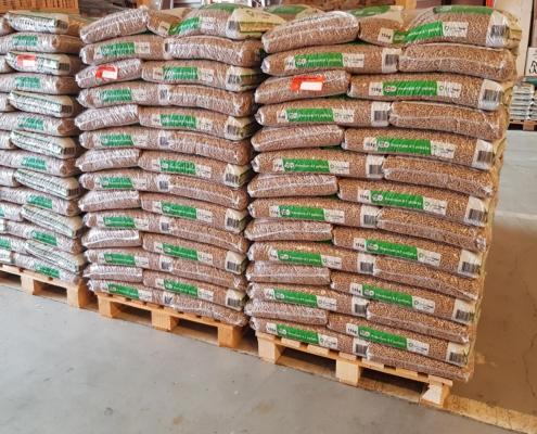 Pellets Greenheat palette